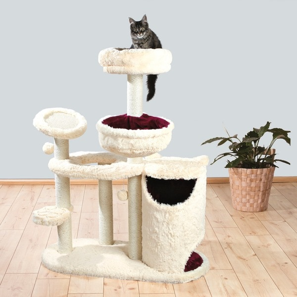 Trixie Marta 51-inch Long-haired Plush Playground Cat Condo