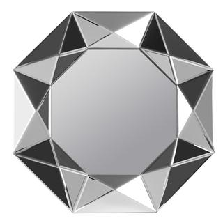 Harper Frameless Geometric Beveled Mirror