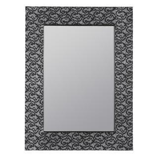 Anna Scroll Cloth Overlay Wall Mirror