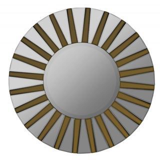 Sven Aged Goldtone Starburst Round Mirror