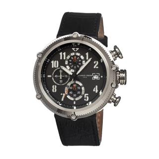 Giorgio Fedon 1919 Men's Sport Utility Black Leather Black Analog Watch