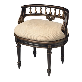 Cafe Noir Antique Finish Vanity Seat