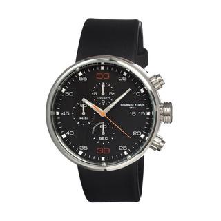 Giorgio Fedon 1919 Men's Speed Timer Ii Black Leather Black Analog Watch