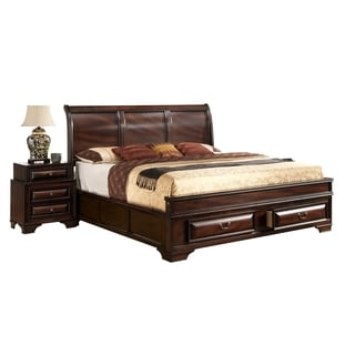 Varnish Oak Queen Bed
