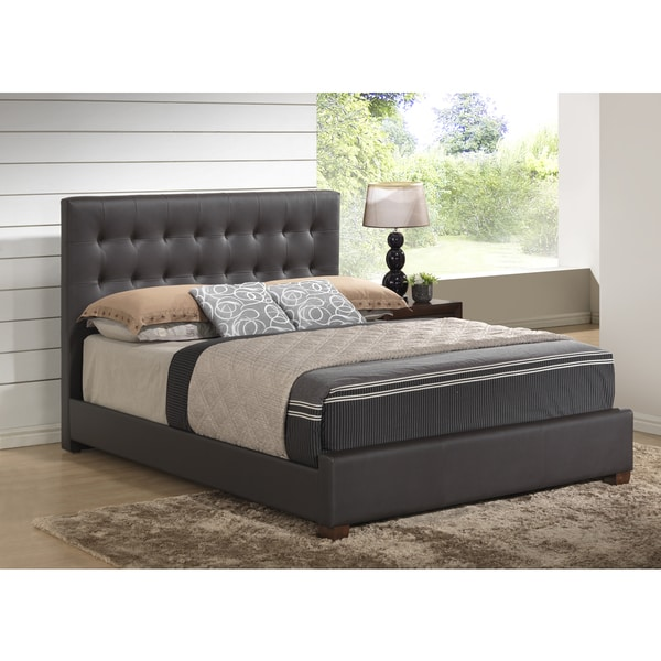 Brown PU Queen Bed