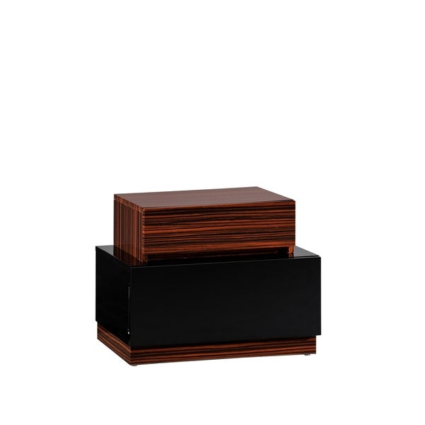 Black and Walnut Nightstand