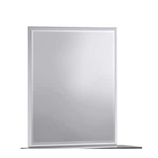 Silver and Zebra Grey Mirror