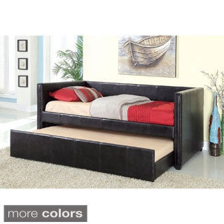 Grobina Leatherette Platform Daybed with Twin Trundle