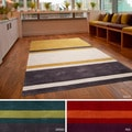 Hand-tufted Stripe Contemporary Area Rug (5' x 8')