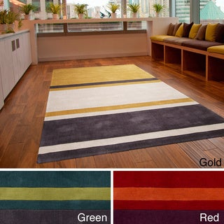 Hand-tufted Stripe Contemporary Area Rug (9' x 13')