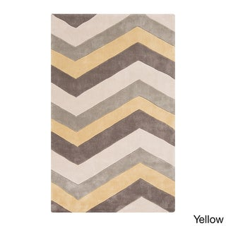 Hand-tufted Chevron Geometric Contemporary Area Rug (8' x 11')