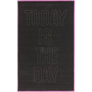 PEPPER Hand-woven Today Black Area Rug - 8' x 10'