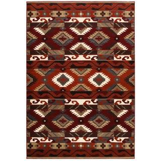 LNR Home Adana Terracotta Southwestern Area Rug (7'9 x 9'9)
