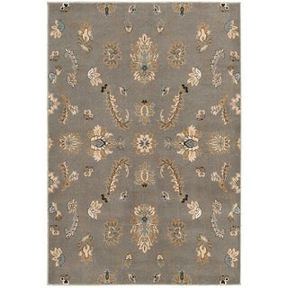 Machine-made transitional Grey Area Rug (7'9 x 9'9)