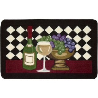 Nourison Accent Decor Black Wine Rug (1'8 x 2'6)