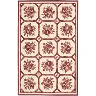 Nourison Country Heritage Ivory/Red Rug (5'3 x 8'3)