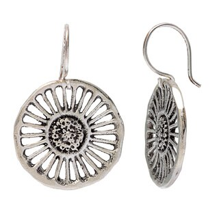 Sterling Silver Wagon Wheel Earrings