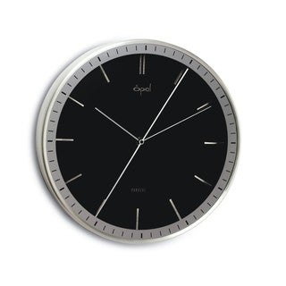 Opal Double Sided Center Second Hand Black Clock