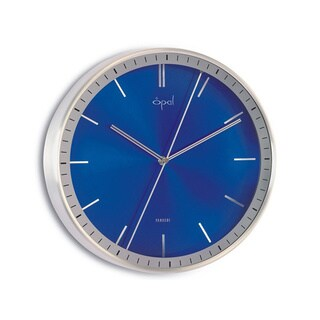 Opal Double Sided Center Second Hand Blue Clock