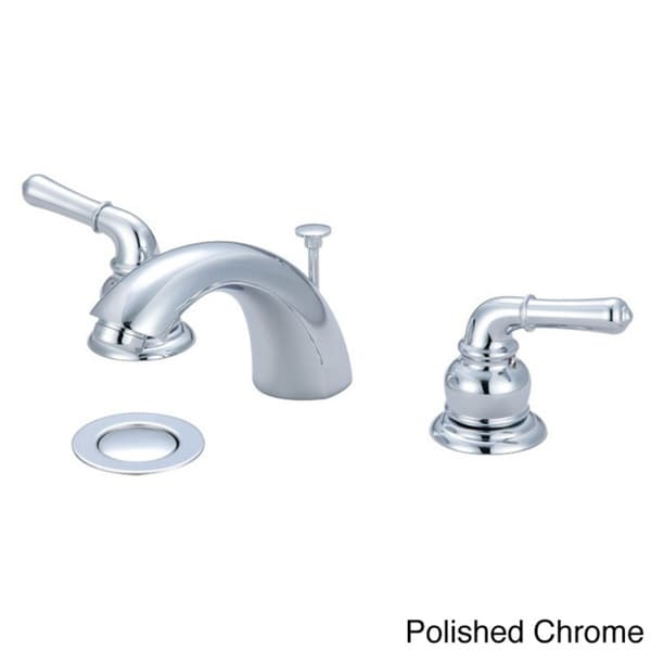 ... Two Handle Widespread Lavatory Faucet With 5050 Popup Drain Assembly