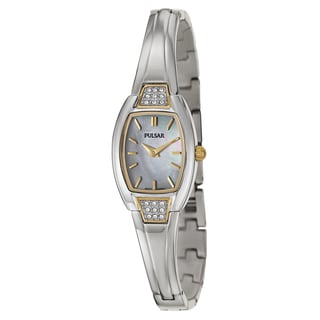 Pulsar Women's 'Easy Style' Yellow Goldplated Stainless Steel Quartz Watch