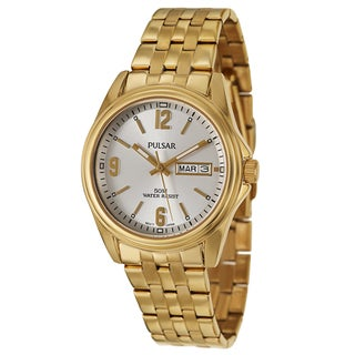 Pulsar Men's 'Traditional' Yellow Goldplated Stainless Steel Quartz Watch