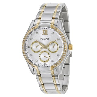 Pulsar Women's 'Business' Yellow Goldplated Stainless Steel Quartz Watch