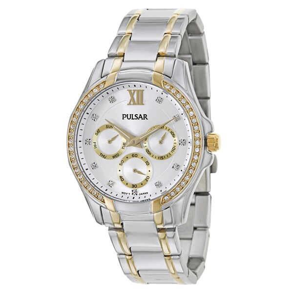 Pulsar Women's 'Business' Yellow Goldplated Stainless Steel Quartz Watch 13058701