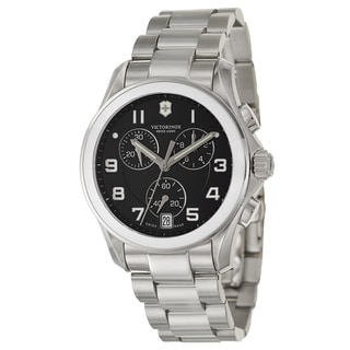 Victorinox Swiss Army Women's 'Chrono Classic Ceramic' Stainless Steel Chronograph Watch