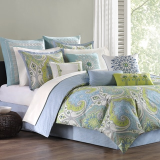 Echo Design Sardinia Cotton 3-piece Comforter Set with Optional Euro Sham Sold Separately