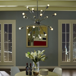Crossfire Silver Pendant Light