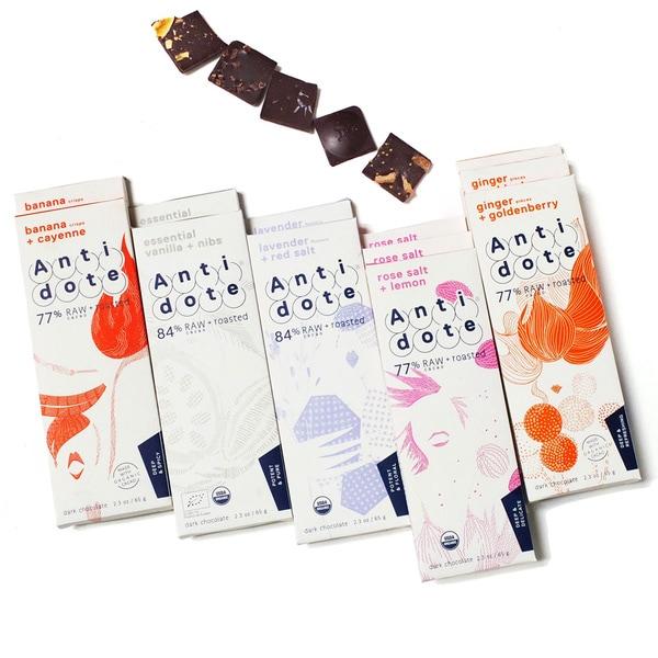 Antidote Chocolate Potent Chocolate Bar Box (Pack of 12)