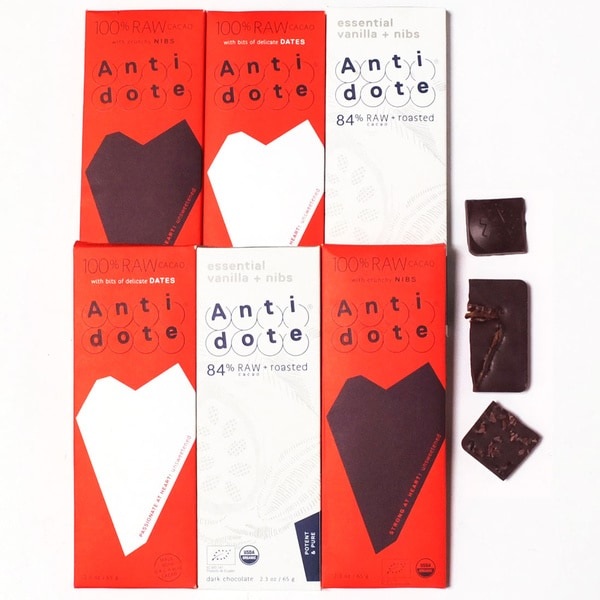 Antidote Chocolate Purity Chocolate Bar Set (Pack of 6)