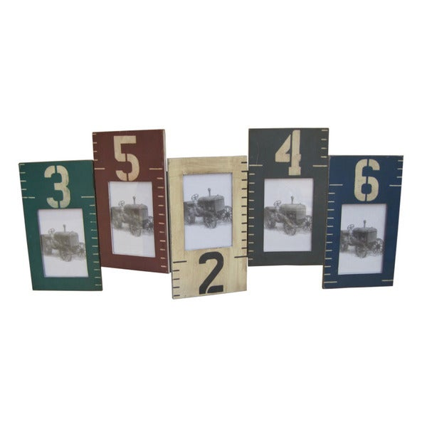 2 Wooden multi color picture frame