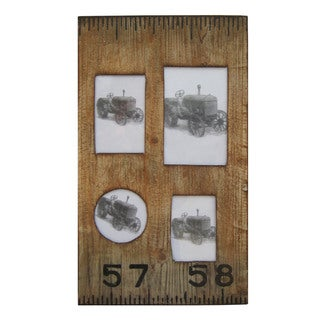 Rustic Tree Bark Wood 4x6 Inch Oval Frames Set Of 3