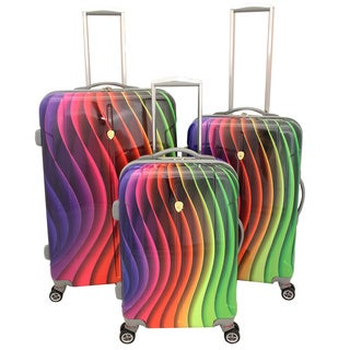 Dejuno Rainbow 3-piece Hardside Lightweight Spinner Luggage Set