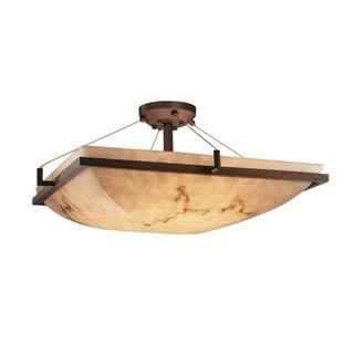Justice Design Group LumenAria 6-light Ring Dark Bronze Semi-flush