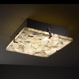 Justice Design Group Alabaster Rocks 4-light Dark Bronze Flush-Mount