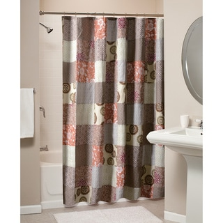 Greenland Home Fashions Stella Patchwork Cotton Shower Curtain