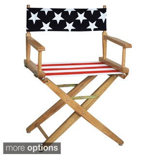 Extra-wide Premium American Flag Directors Chair