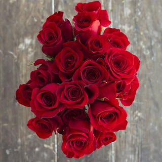 The Bouqs Company 'Depth' Deluxe Red Rose Flower Bouquet
