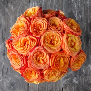 The Bouqs Company 'Dawn' Deluxe Orange Roses Flower Bouquet