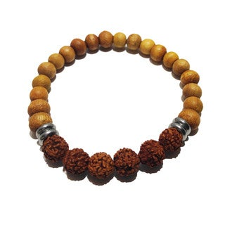Sandalwood and Rudraksha Happiness Bracelet