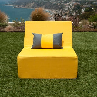 Softblock LowBoy Yellow Indoor/Outdoor Armless Lounge Chair