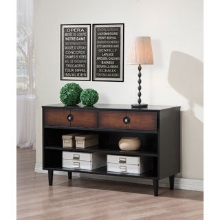 Allen Black and Cherry 2-drawer Console Table