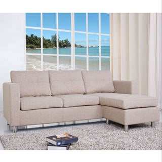 Detroit Camel Convertible Sectional Sofa and Ottoman