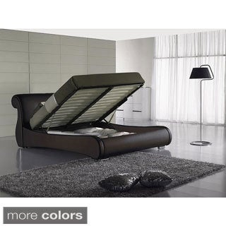 Queen Leatherette Storage Bed