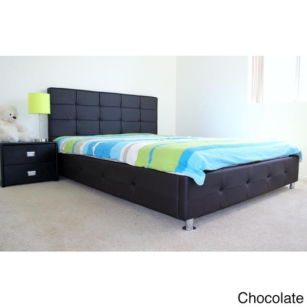 Faux Leather Upholstered King-size Platform Bed