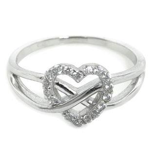 Eternally Haute Sterling Silver Cubic Zirconia Infinite Love Ring