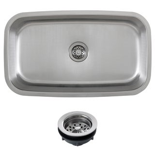 Phoenix 32-inch Stainless Steel 16-gauge Undermount Single Bowl Kitchen Sink